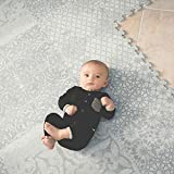 Little Nomad Foam Floor Tile Baby Puzzle Play Mat Flooring Infant Authentic Roam Free 8 x 12 Soft Interlocking Tiles for Toddlers and Kids Resembles an Area Rug | As Seen On Shark Tank | Feather Gray