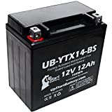 Replacement 2002 Honda TRX350 Rancher 350 CC Factory Activated, Maintenance Free, ATV Battery - 12V, 12AH, UB-YTX14-BS