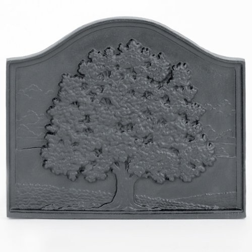 Fireplace Hearth Cast Iron Fireback - Oak Tree by Aiden's Hearth