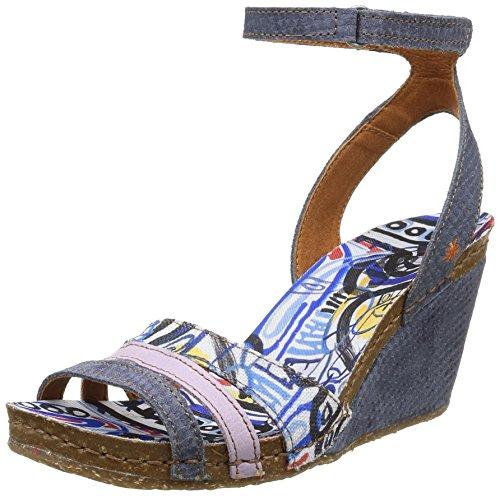 ART VALBY - Sandalias de vestir de lona para mujer azul - Blau (CREPUSCULO)