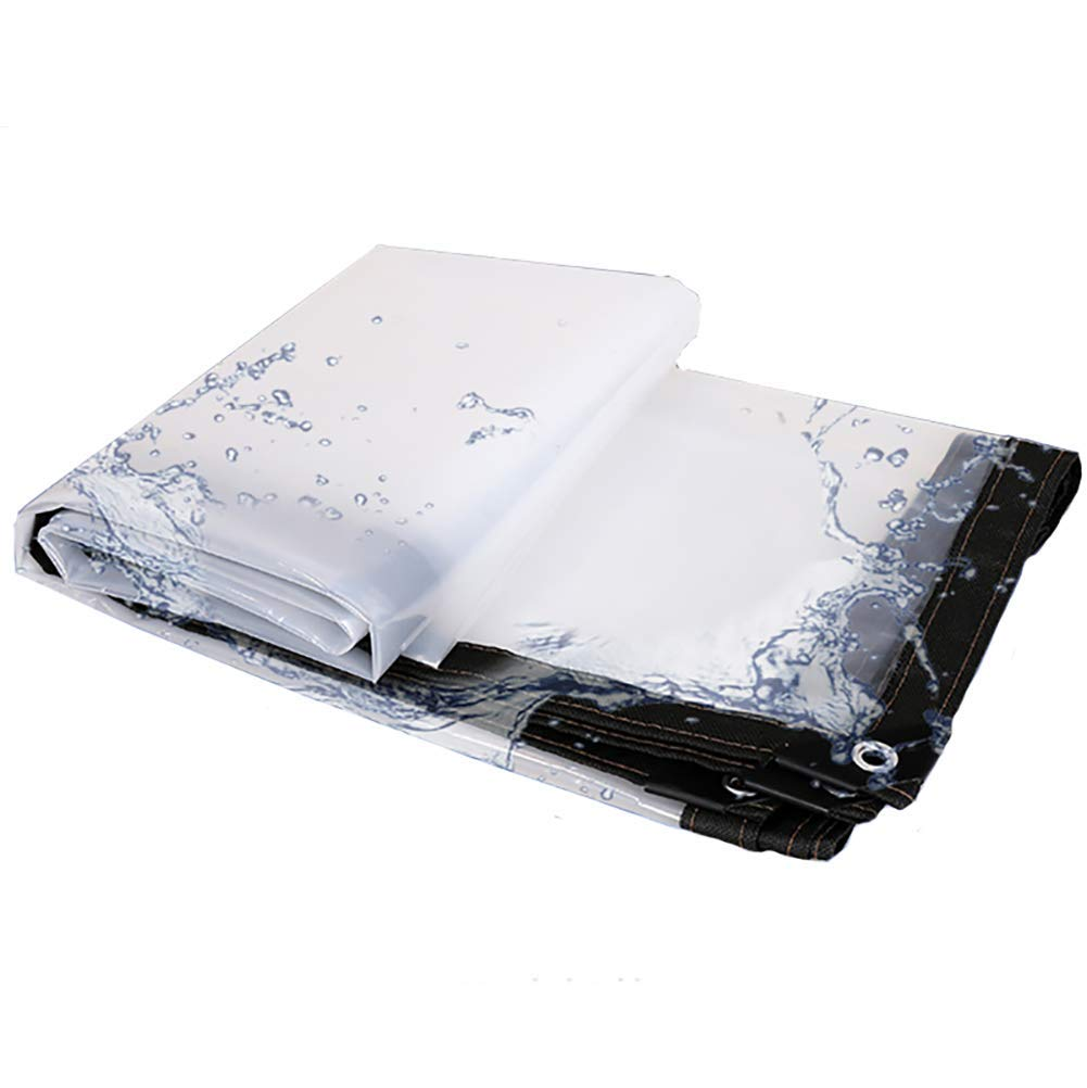 5X6m HCYTPL Transparent Tarpaulin imperméable Plastic Film verthouse Insulation Rainproof Cloth UV Resistant,Thickness 0.13mm,5X6m