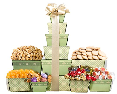 Wine Country Gift Baskets Chocolate and Cookie Tower (Wine And Nut Gift Baskets)
