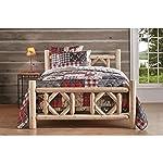 CASTLECREEK Diamond Cedar Log Bed, Twin