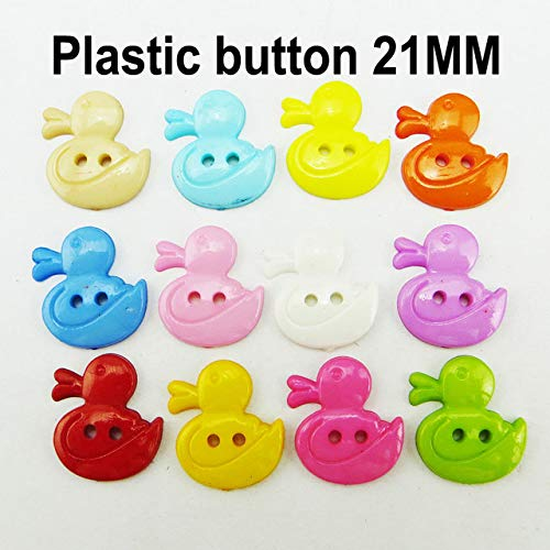 (Maslin 100PCS 21MM Animal Duck Series Plastic Buttons Coat Boots Sewing Clothes Accessory Kid Joy Button P-246 - (Color: Mixed))