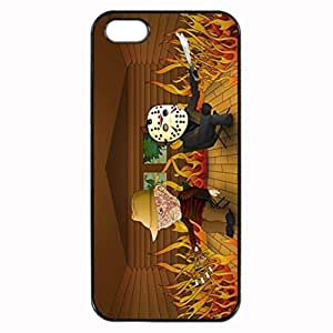 Freddy vs Jason Unipue Custom Image Case iphone 4 case , iphone 4S case, Diy Durable Hard Case Cover for iPhone 4 4S , High Quality Plastic Case By Argelis-sky, Black Case New
