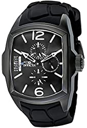 Invicta Men's 18902 Lupah Black Ion-Plated Stainless Steel Watch with Black Silicone Band
