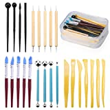 Fondant Tools, TEOYALL 25 Pcs Ball Stylus Dotting