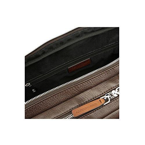 125852 2 Testa Pocket Moro Spalding pelle Cartella amp; Bros in zip 80WPqqfzwE