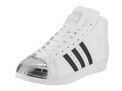 adidas Women s Pro Model Metal Toe Originals Casual Shoe  Ftwwht Black SilverMT 6 B 9f9c075efc
