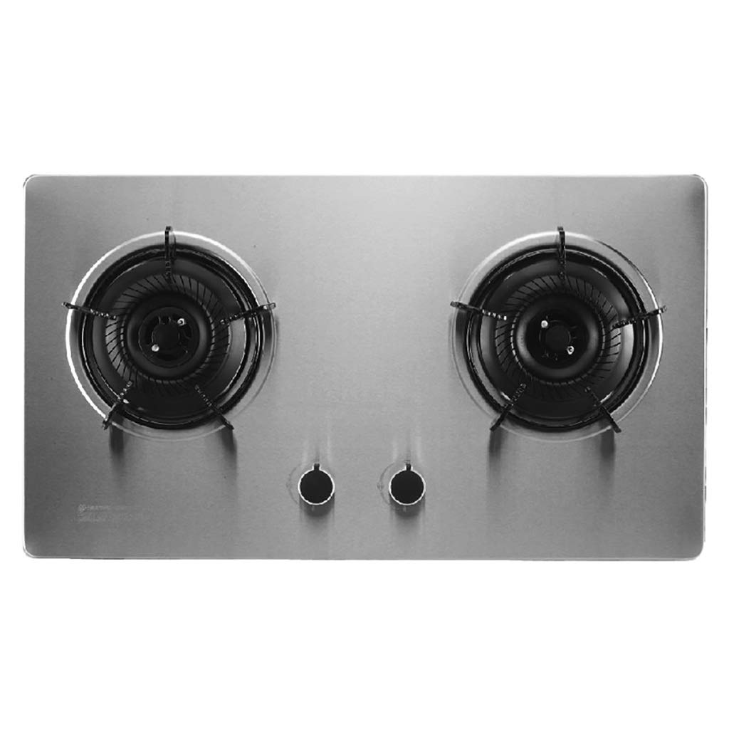 LQ-Stoves Gas Cooktops, Kitchen Energy Saving Thick Stainless Steel 2 Burner Cooker, Embedded, cooktop Dual-use Natural Gas Cooktops Size: 710400 (mm) by LQ-Stoves