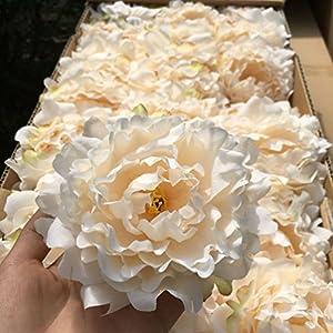 20Pcs/Lot Artificial Peony Flower Head Christmas Diy Silk Wall Background 97