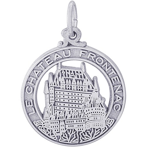 (Rembrandt Charms Sterling Silver Chateau Frontenac Charm (18 x 18 mm))
