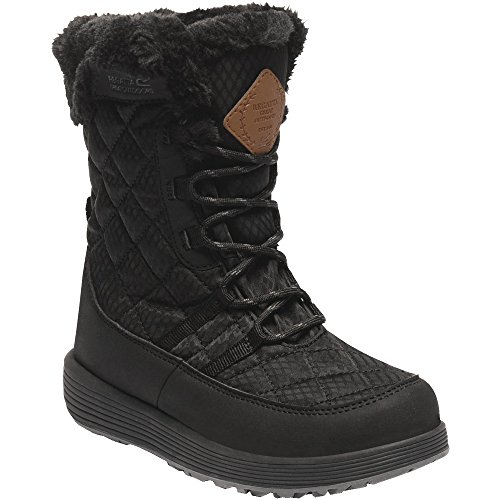 Regatta Fashion Black Lightweight Medley Boots Girls Boys Quilted amp; Fabric 7wq7BUTa