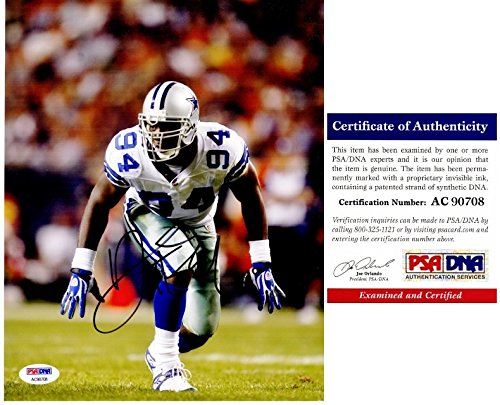 DeMarcus Ware Signed - Autographed Dallas Cowboys 8x10 inch Photo - PSA/DNA Certificate of Authenticity (COA)