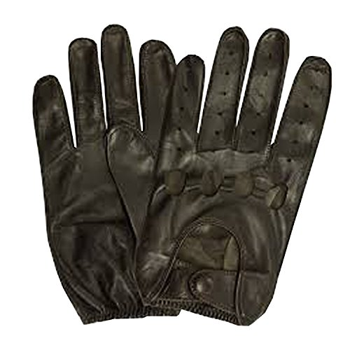 Isotoner Men's Smooth Leather Driving Glove With Covered ...