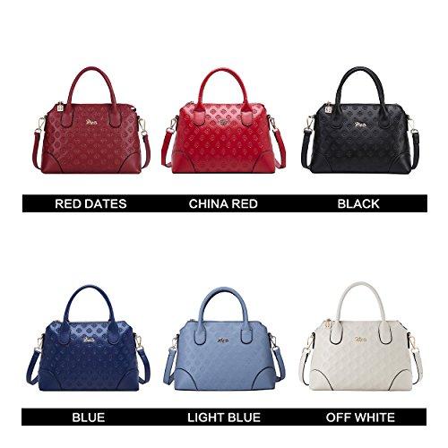 Elegant Top Handbag Ladies Blue BOYATU Women Handle Leather Bags Bag Shoulder for Satchel PZ8Yx