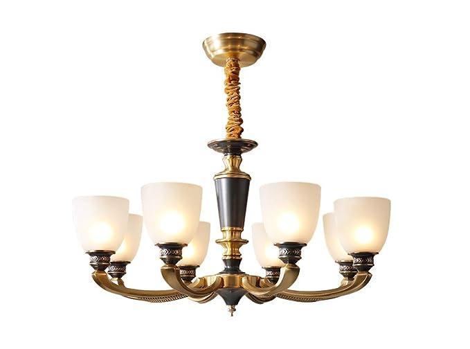 Amazon.com: NOXARTE - Lámpara de techo con 8 luces de latón ...
