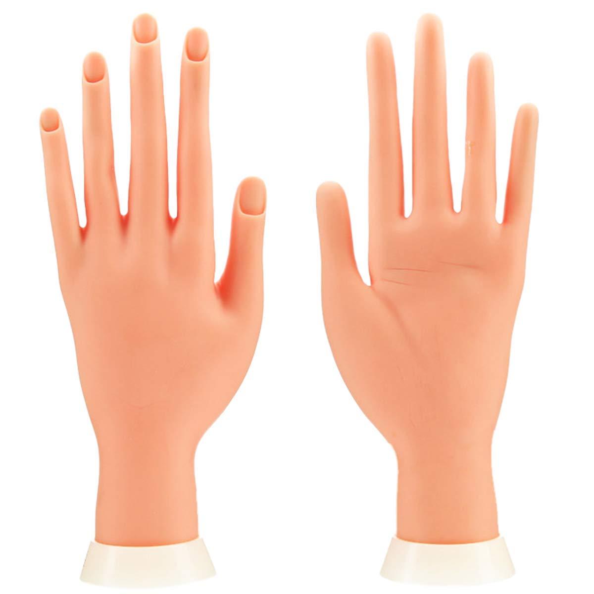 Aeromdale - Mano de entrenamiento para uñas, flexible y móvil ...