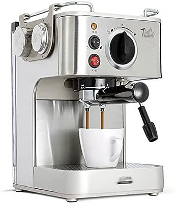 GCCI Cafetera de Café Semi-automática Al Vapor,Color acero ...