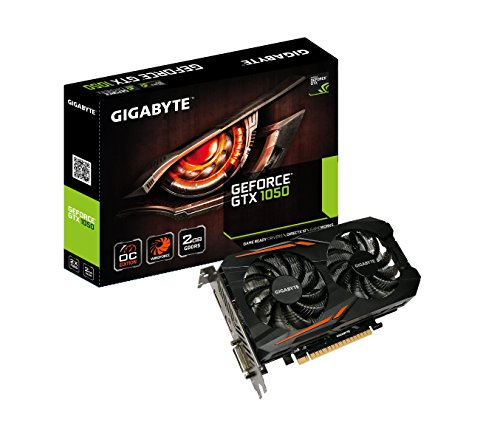 - Gigabyte Geforce GTX 1050 2GB GDDR5 128 Bit PCI-E Graphic Card (GV-N1050OC-2GD)