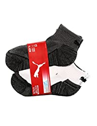 Puma Inc. PUMA Boy's Quarter Crew Low Cut Socks - 6 Pairs, Shoe Size 9-3.5
