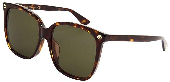 Gucci GG0022SA, Gafas de Sol Para Mujer, AVANA-AVANA-BROWN ...