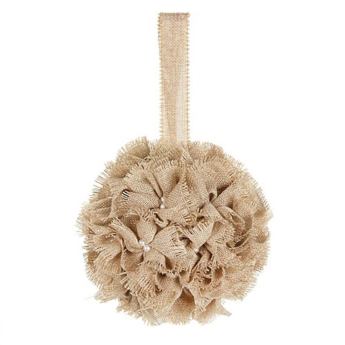 Click to buy Wedding Reception Decoration Ideas: Kissing Ball Rustic style burlap!
