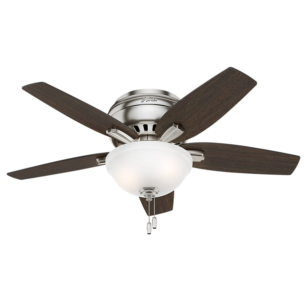 Hunter Fan Company 51082 Newsome Ceiling With Light 42 Small Brushed Nickel Com