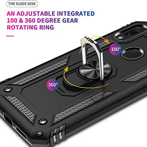 Wkvnk Custodia Xiaomi Redmi Note 7,Silicone Cover Armatura Antiurto Protettiva Custodia Case per Xiaomi Redmi Note 7/ Redmi Note 7 PRO (Nero)