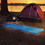 Wakeman Non-Slip Luxury Foam Camping Sleep Mat 6 SLEEP COMFORTABLY-With ½ inch thick premium foam material, this sleeping mat offers superior comfort to ensure a restful night's sleep. LIGHTWEIGHT AND PORTABLE-Weighing only one pound and only 24 inch (W) x 7 inch (H) when rolled, this lightweight mattress is convenient to pack and transport to your next adventure. MULTIPURPOSE FOAM MAT-The non-slip comfortable textured surface of this sleeping pad helps to keep you warm and provide protection from the cold, wet ground while you sleep.