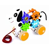 Viga Wooden Pull Along Dog With Gears by Viga