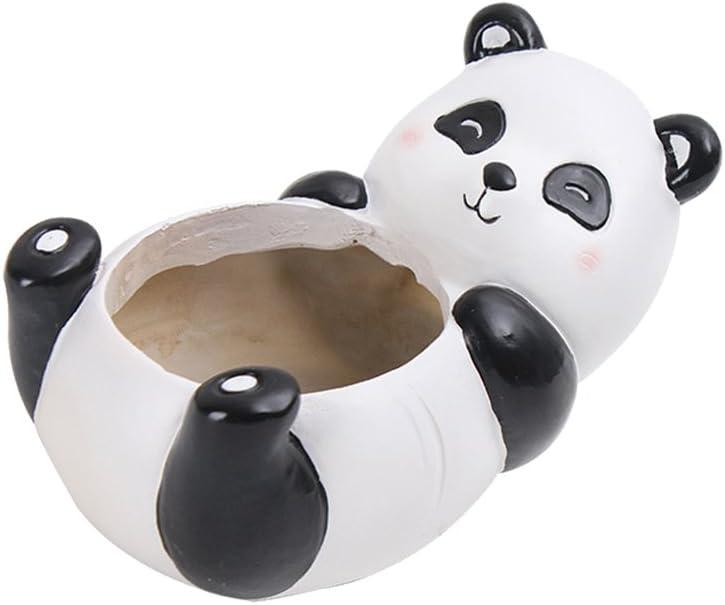 VORCOOL Panda Flower Pot Animal en forma de maceta suculenta Pot Pot de resina para jardín Balcón