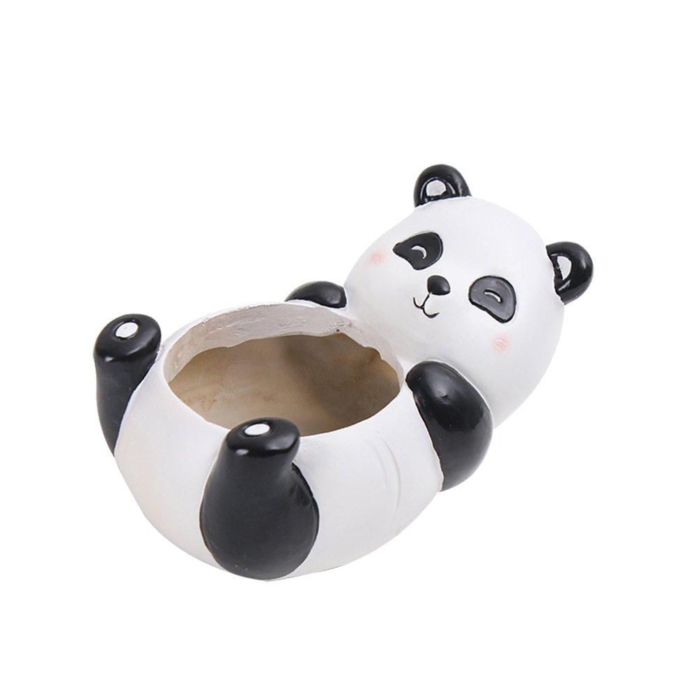 VORCOOL Animal Shaped Cartoon Flower Pot Cute Panda Vase Pot Home Decoration for Succulent Plants