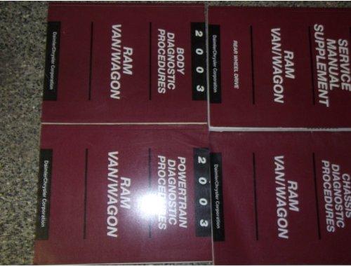 2003 Dodge Ram Van Wagon Service Repair Shop Manual Set FACTORY OEM (service manual supplement, and the body/powertrain/chassis diagnostics procedures manual.) -