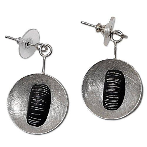 NOVICA .925 Sterling Silver Dangle Earrings 'Dangling - Gong Java