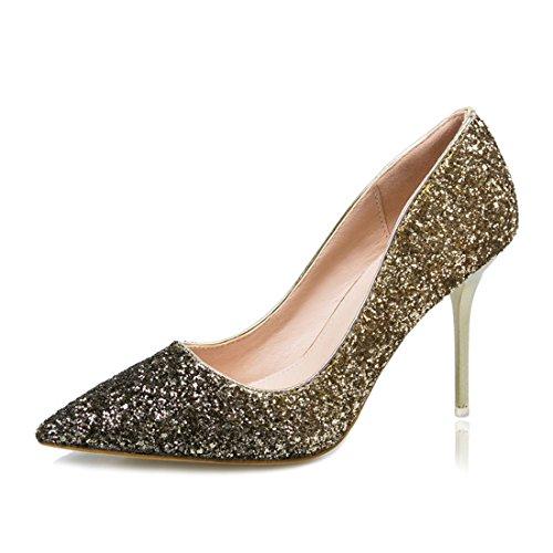 Frieda Richard Luxury Women Pumps BlingShoesHigh Heels Wedding Party Shoes Escarpins Gold Pumps 5 (Party Store Burlington Vt)