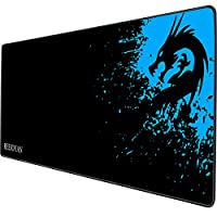REEJOYAN XXL Extended Gaming Mouse Mat/Pad, Wide(Long) Mousepad, Waterproof, Stitched Edges, 35.4