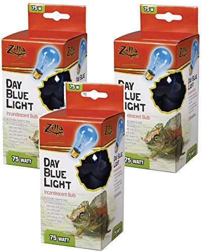 Zilla Incandescent Bulb, Day Blue Light and Heat, 50 Watt (3 Pack)