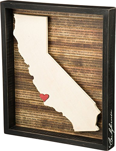 California Frame Mini (Primitives by Kathy Wanderlust Box Sign, 13.5 x 15.5-Inch, California)