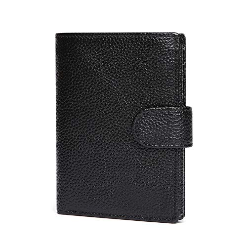 HHF Purses & Wallets Men's Wallet Wallet fold Wallet Card Putting Cowhide Coin Purse with Luxury Feeling Boxed (Color : 03.Black, Size : Free)