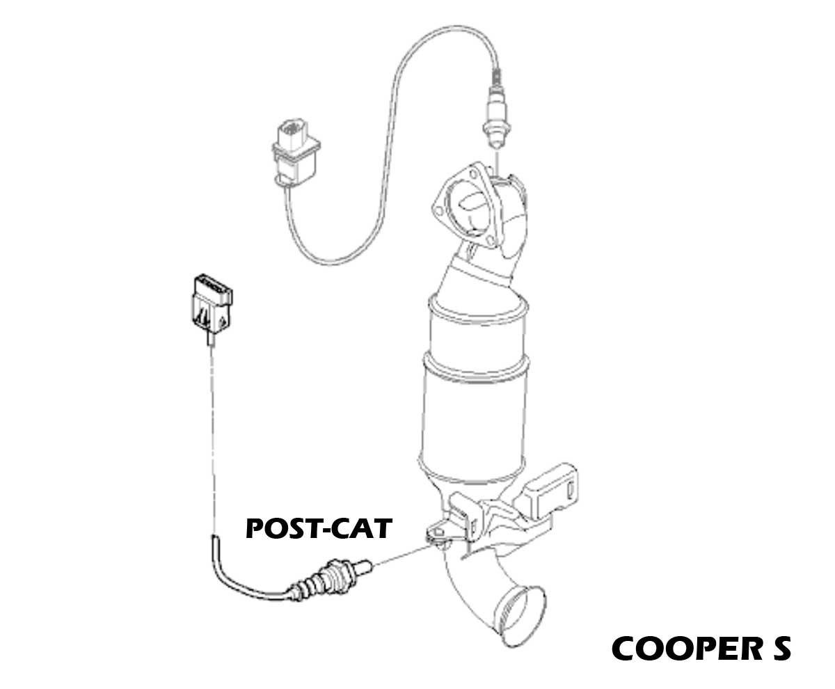 Post-Cat Oxygen Sensor For Mini Cooper Countryman Paceman R55 R56 R57 R60 R61