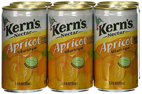 Kerns Apricot Nectar 6 pk - 5.5 Ounce (Total of 6 cans)