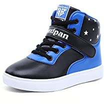 U-MAC Boys High Top Sneakers Walking Winter Warm Mid Sports Velcro Casual Shoes (Little Kid/Big Kid)