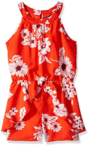 My Michelle Girls' Big Sleeveless Romper, red L (Michelle My Clothes)
