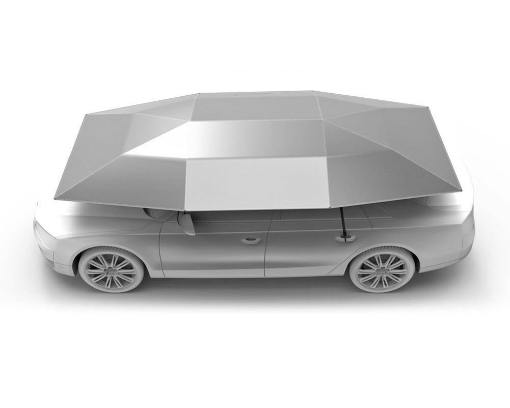 Car Tent Movable Carport Folded Portable, Universal Edition - Sunshade To Keep Your Vehicle Cool And Damage Free, Easy To Use Darkblue YLG
