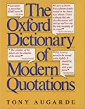 img - for The Oxford Dictionary of Modern Quotations (Oxford Quick Reference) book / textbook / text book