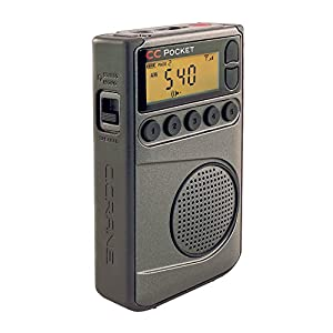 C. Crane CC Pocket AM FM and NOAA Weather Radio with Clock and Sleep Timer