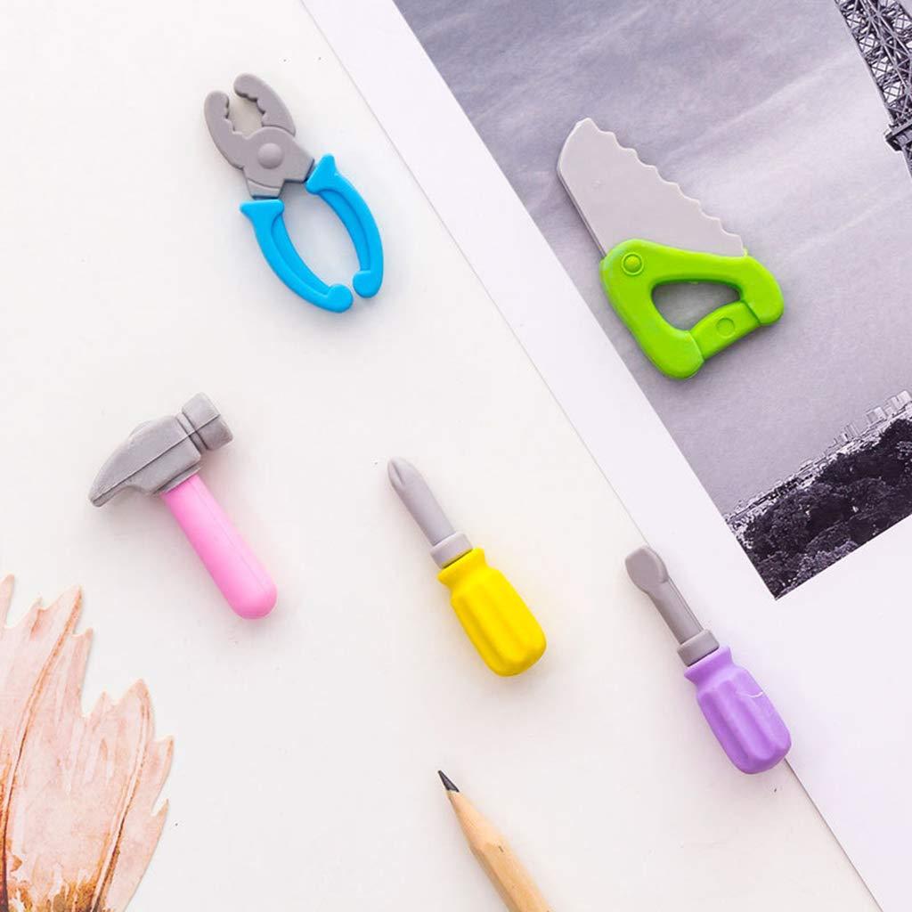 Sch/üler Yinuneronsty 5-teiliges Set mit kreativen Werkzeugen Koreanisch Radiergummi Geschenke Korrekturbedarf f/ür Kinder Schreibwaren