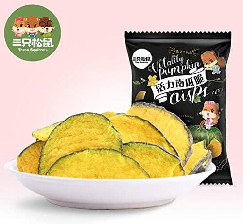 三只松鼠 南瓜脆 中国名物 おつまみ Daben® 大人気 休闲零食 蔬菜干 南瓜干 60g/袋
