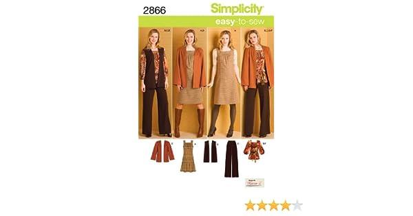 cce5eb86ba5119 Amazon.com  Simplicity Karen Z Easy-to-Sew Pattern 2866 Women s Pants